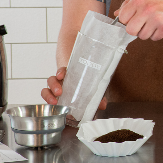 Toddy Cupping kit with filter ready for coffee
