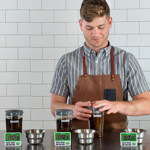 Setting up the Toddy cold brew cupping kit