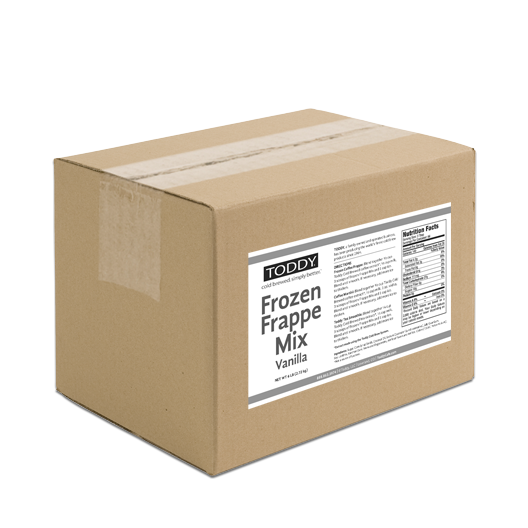 Six Pound box of Toddy cold brew frappe mix in vanilla flavor