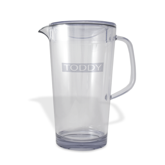 close up shot of Toddy clear 1.9L pitcher