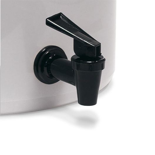 Black plastic spigot for the Toddy commercial model brewer