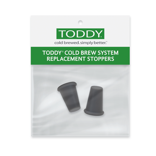 close up shot of Toddy cold brew system silicone stoppers