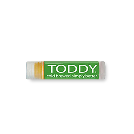 close up shot of Toddy merchandise spf lip balm in coffee flavor