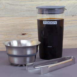 toddy cold brew cupping kit being used