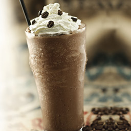 Toddy Frappe with Chocolate Chips and Whipped Creme on Counter