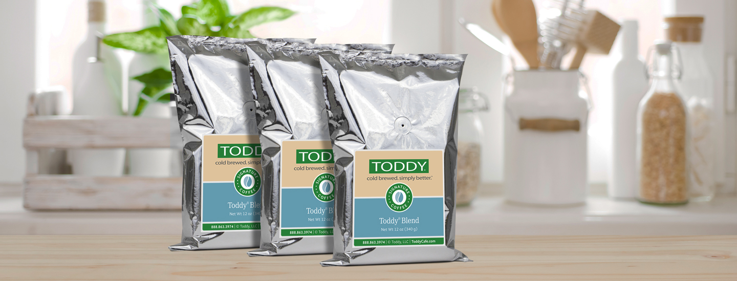 Three Coffee bags of Toddy Specialty Coffee